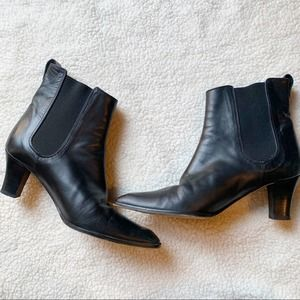 Michael Kors Black Leather Point Boots